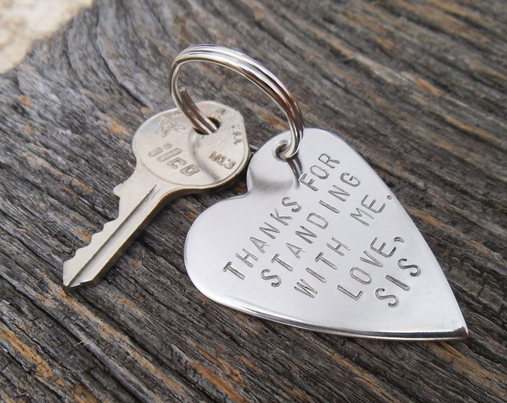 Brother Wedding Gift: Metal Keychain Wedding Day For Brother Of The Bride Gift