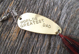 World's Greatest Dad My Dad's the Best First Fathers Day Personalized Fishing Lure Baby Daddy Grandpa Fishermen Gifts New Dad Brother Gifts