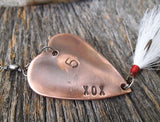 Boyfriend Fishing Lure Custom Copper Gift Men - 5 - Fifth Anniversary 5th Wedding Anniversary Him Personalized Engraved Angler Men Husband