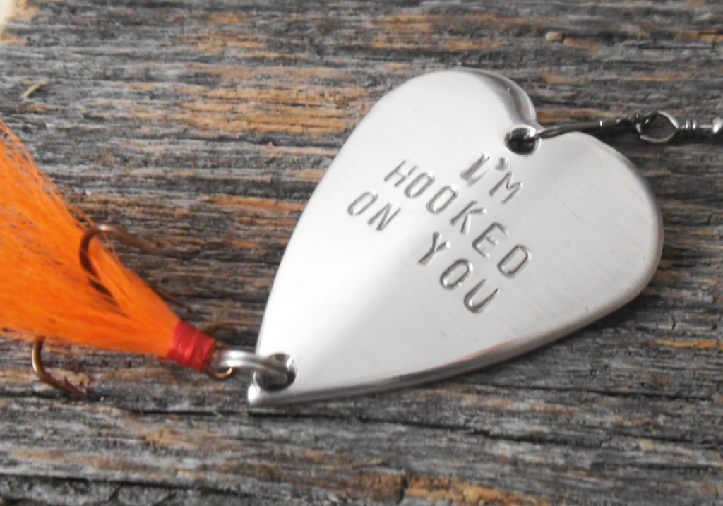 Boyfriend Gift Valentines Day Man Anniversary Hooked On You Fishing Lu C And T Custom Lures