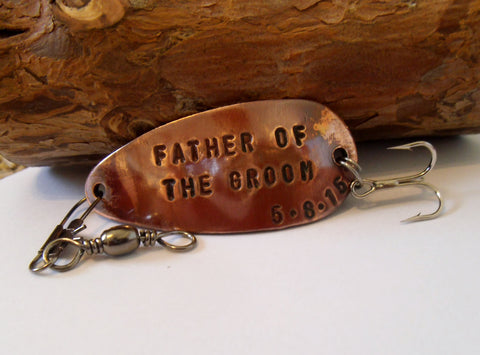 Fishing Lure Personalized Fathers Gifts for Dad of the Bride Father of the Groom Stepfather Stepdad Wedding Gift Father in Law Bride Groom