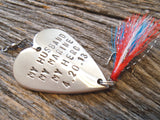 My Marine You're My Hero Fishing Lure I Love My Husband Military Wife Mom Son Gift Christmas for Overseas Deployment Soldier Cadet Boyfriend