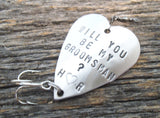 Will you be my Groomsman Gift for Asking Groomsmen Personalized Best Man Fishing Lure Bachelor Party Favor Men Ushers Bridesmaid Flower Girl