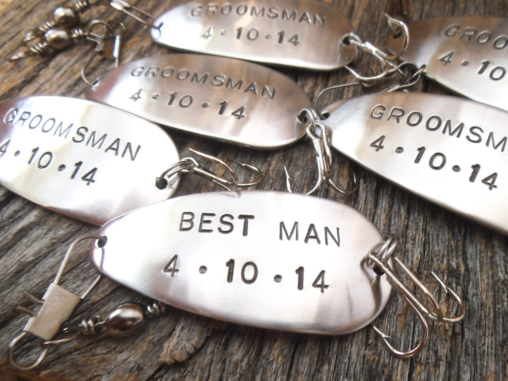 Wedding Gifts for Groomsman Favors for Best Man Personalized Fishing Lure for Father of the Bride Groom Tropical Destination Engagement Gift