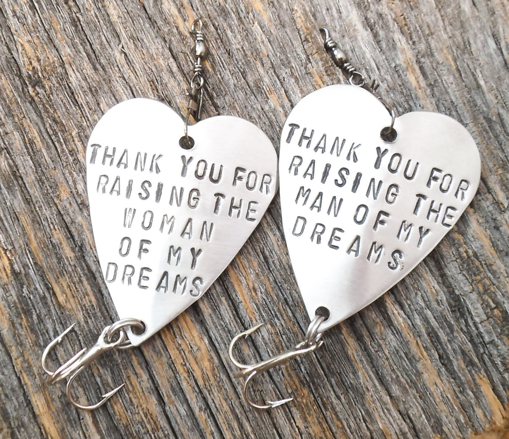 Wedding Gifts for In Laws Thank you for Raising the Woman Man of my Dreams Fishing Lure for Mens Gift for Parents of the Groom Bride Father