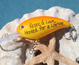 Hooked For a Lifetime - Custom Fishing Lure for Engagement Photos
