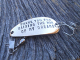Thank you for Raising The Man of My Dreams Fishing Lure Thanks for Raising the Woman of My Dreams Your Son Your Daughter Future In Law Gift