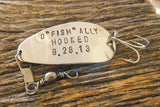 OFishally Hooked on You Fishing Lure with Wedding Date Men Gift for Man Anniversary Boyfriend Girlfriend Outside Favors Fall Wedding Country