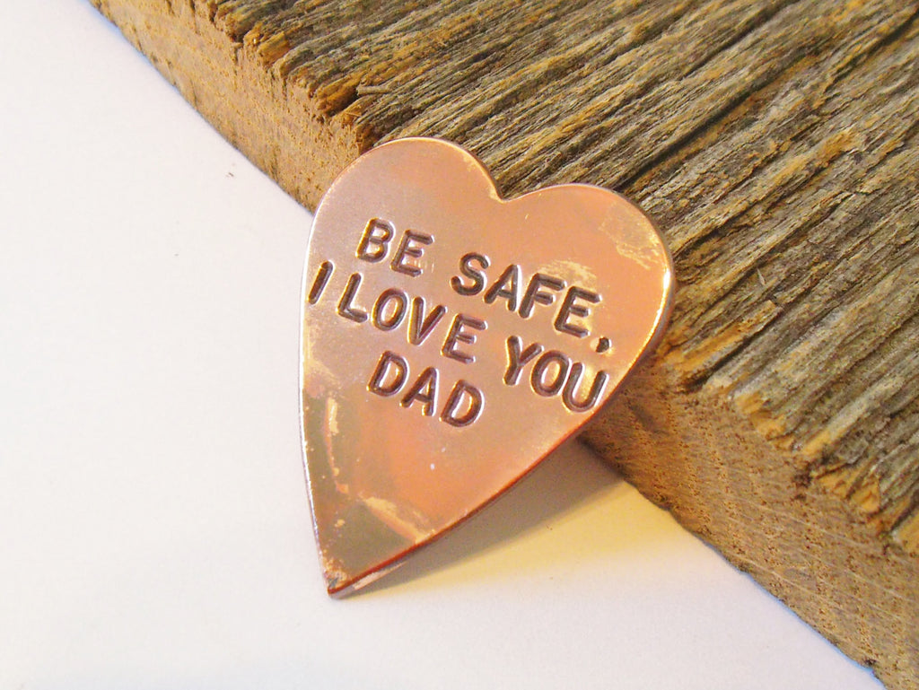 Be Safe Law Enforcement Token From Dad to Child Parents to Children Going Away Fireman Son Daughter Military Safe Return Prayer Keepsake Mom