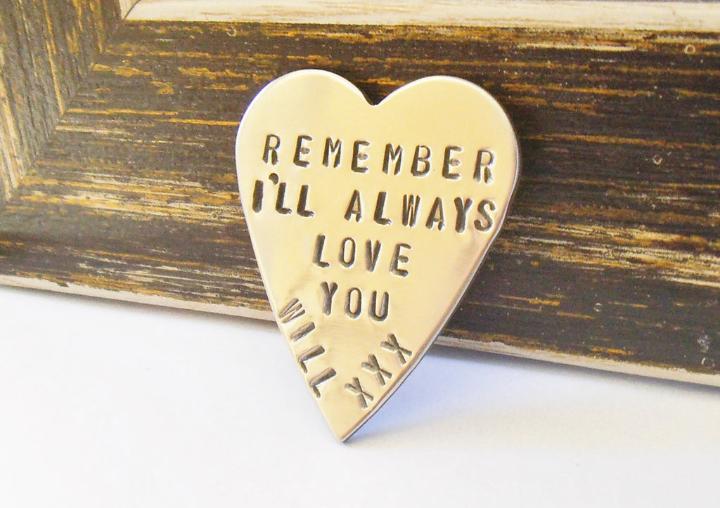 Remember I'll Always Love You Wallet Keepsake Pocket Token Remembrance of the Day We Met Husband Wife Gift for Loved Ones Anniversary Heart