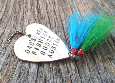 Fishing Lure Christmas Ornament New Parents of Twins Mom of Toddlers Mommy Dad Gift for new Grandma Grandpa Grandparents Day Newborn Baby