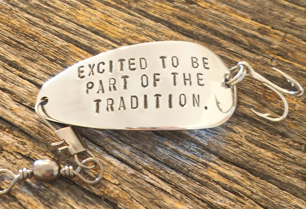 Excited To Be Part of the Tradition Fishing Lure Wedding Gift In Laws Welcome to the Family Bride to Parents Mother Sister Father Grooms Dad