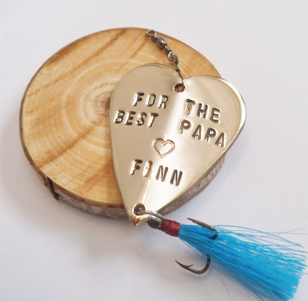 For the Best Papa Ever Fishing Lure Christmas for Grandpa Grandma Sporting Goods Him from Grandkids Grandchildren Birthday Dad Gift for Men