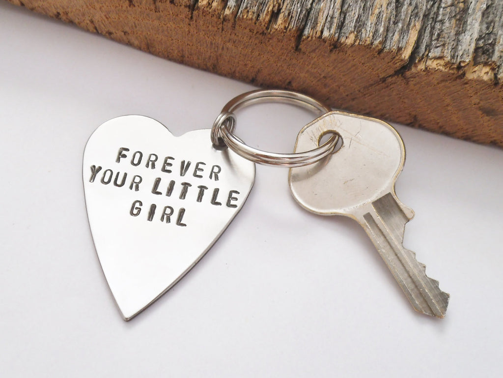 Awesome Dad And Daughter Gifts Part - 10: Dad Keychain Wedding Day Keychain Forever Your Little Girl Key Chain  Personalized For Dad Daughter Gifts