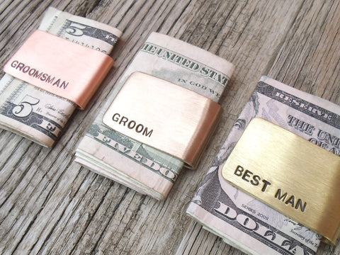 Customized Wedding Favors for Men - Personalized Money Clip