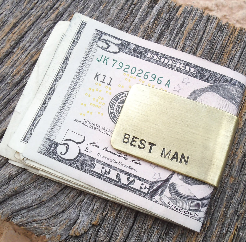 Best Man Gift Money Clip Traditional Wedding For Men Bridal Party Stepdad Stepfather Godparents Custom