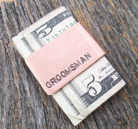 Groomsman Gift Money Clip Junior Groomsmen Perfect Simple Gift Credit Card Holder Father of the Bride Groom Gift Ideas Best Friend Jewelry