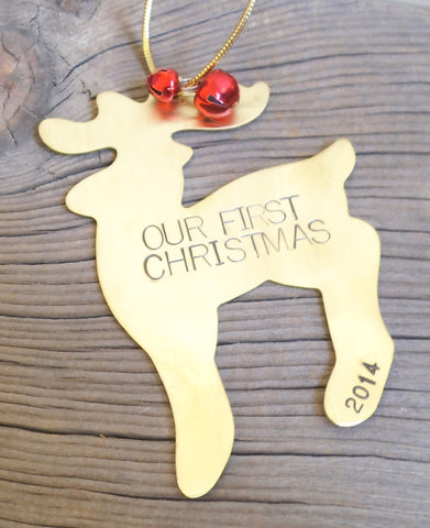 Personalized Our First Christmas Ornament 1st Christmas Mr