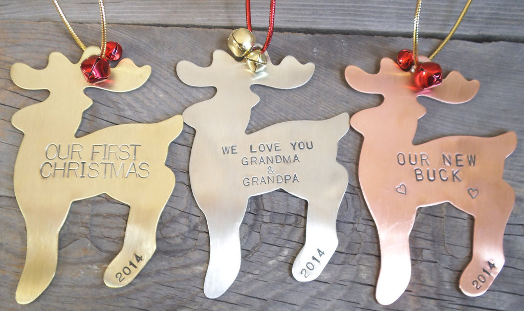 Holiday Ornament, Christmas Ornament, Custom Ornaments, Hand Stamped Christmas Ornament, Personalized Ornaments, Family Present, Parent Gift