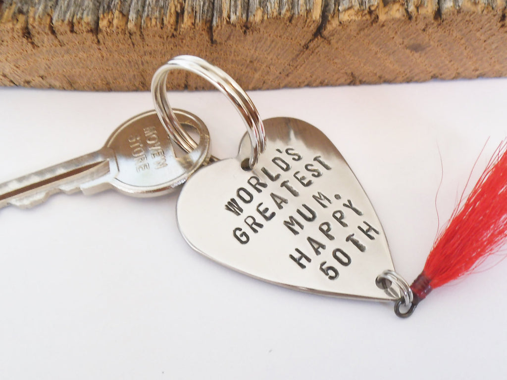 Mother's Day Gift Mom Keychain for Her Birthday for Mum World's Greatest Mommy Gift for Mother Kids 50th Anniversary Woman Accessory Wife