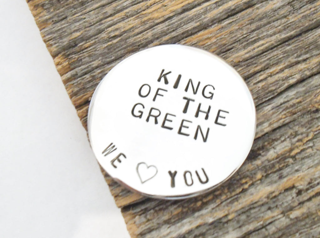 Personalized Golf Ball Marker Dad's Gift Golfer Christmas Grandpa Golf Gift Husband King of the Green Men Gift Golfing Brother Daddy Present
