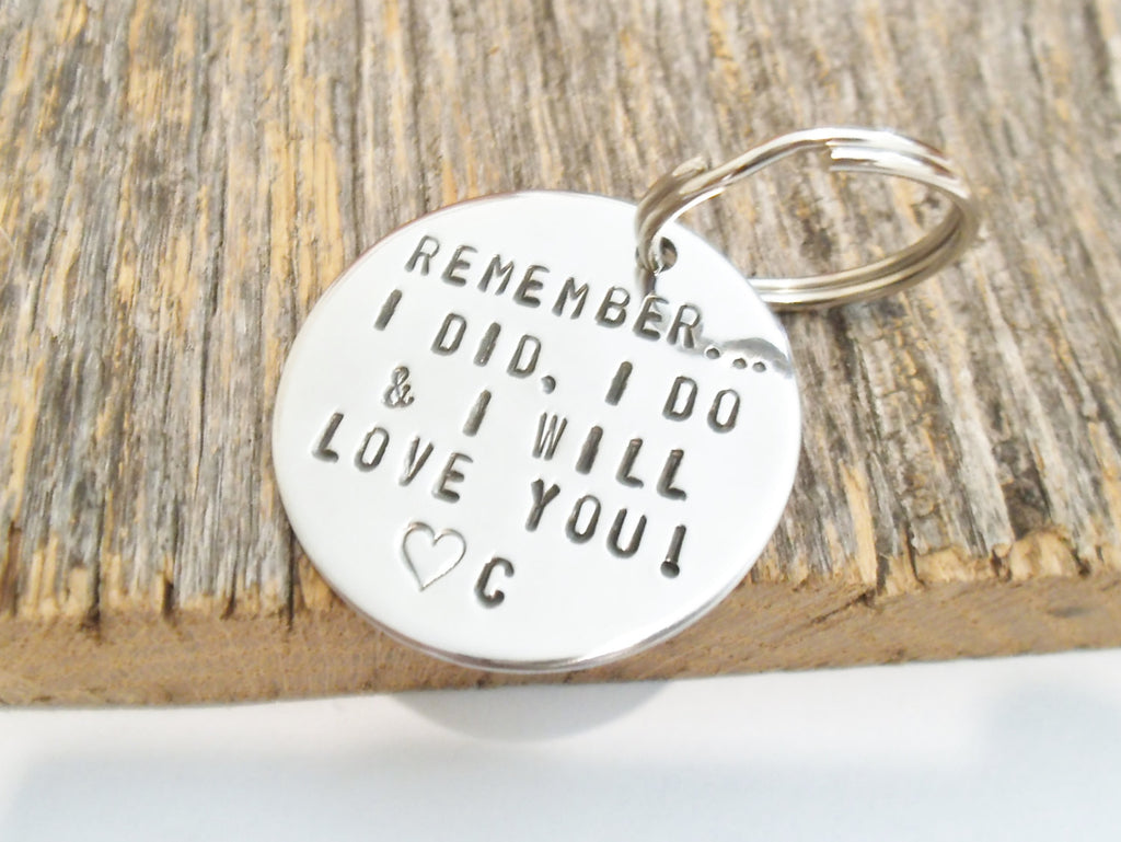 Inspirational Quote Keychain for Women Gift for Christmas Wife Anniversary Gift I Love You Always Personalized Jewelry Girlfriend Key Ring