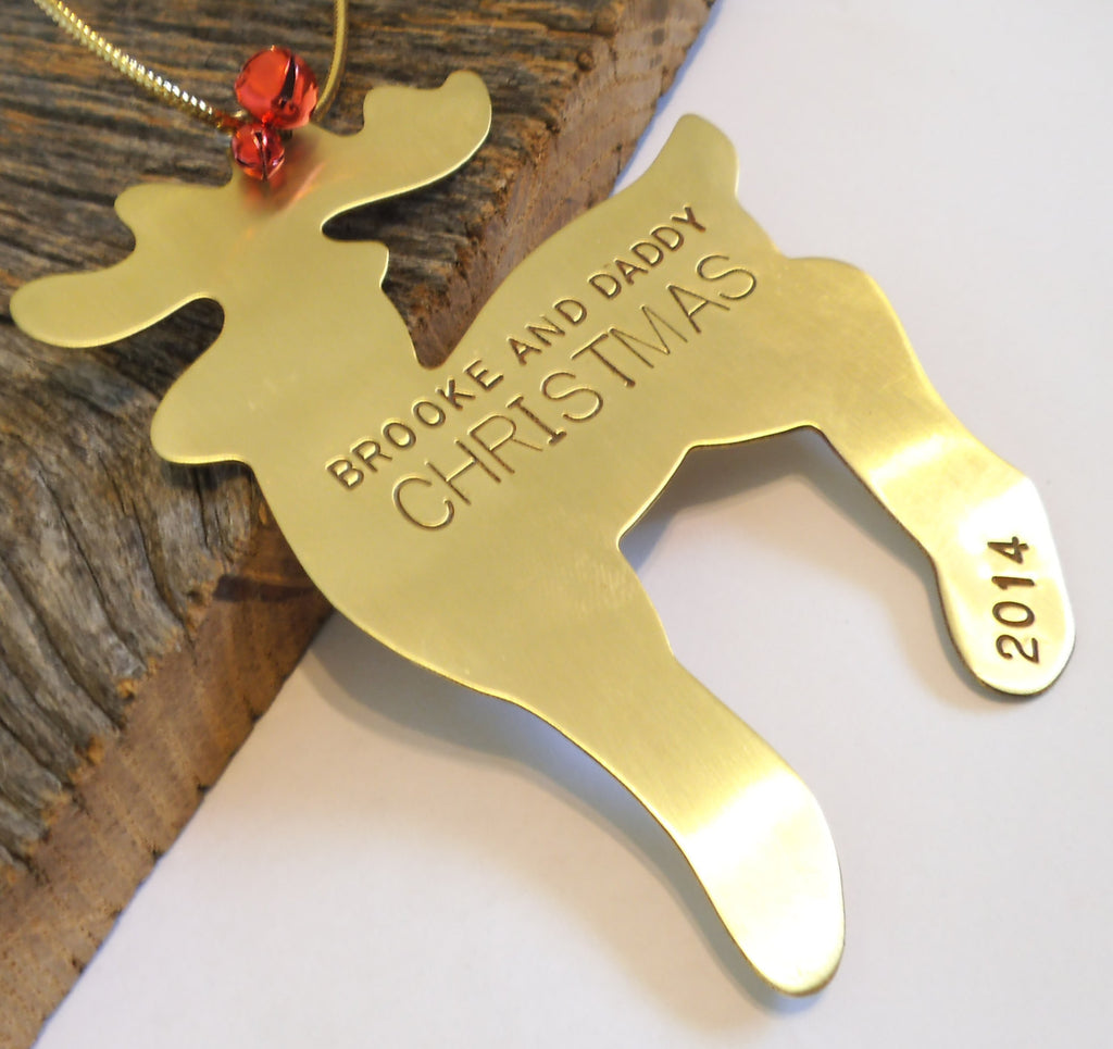 Christmas Ornament for Parent and Child Reindeer Ornament Personalized Our First Christmas Single Mom Dad Mommy and Me Daddy Gift Only Child