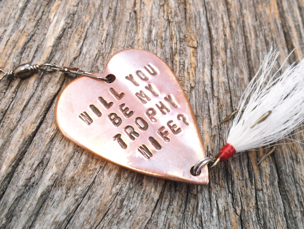 READY TO SHIP Will You Marry Me Fishing Lure Men Marriage Proposal Trophy Wife Asking Her Marry You Propose Girlfriend Boyfriend Engagement