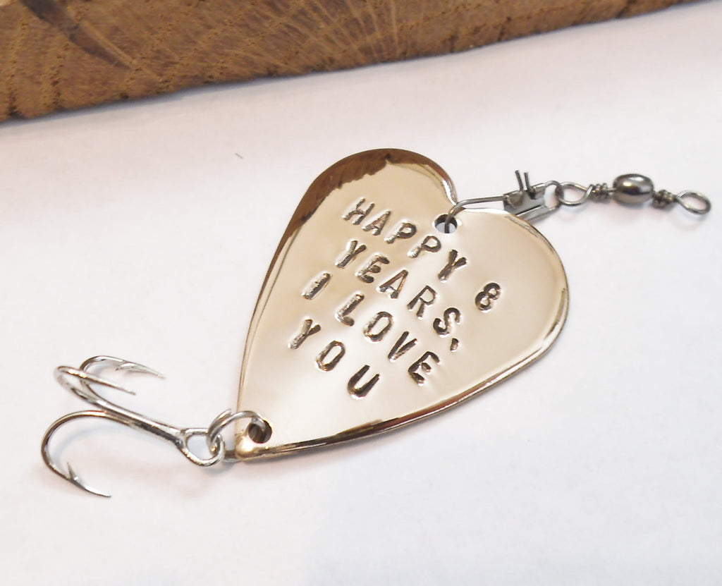 Valentine's Day Gift for Him 8th Anniversary Bronze Gift Eighth Anniversary Fishing Lure Birthday Husband Wife Boyfriend Girlfriend Men Gift