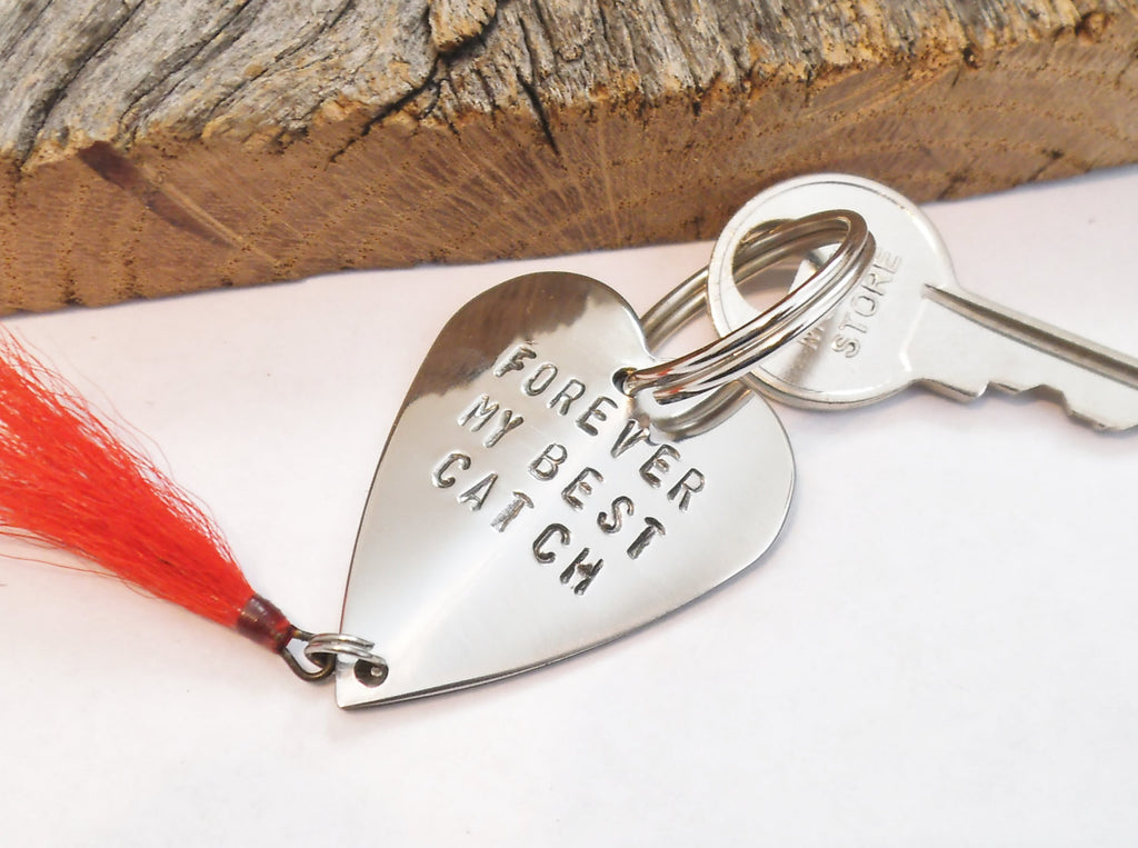 Forever My Best Catch Fishing Lure Keychain Dad Birthday Grandpa Personalized Anniversary Husband Mens Gift for Newlywed Wedding Day Gift