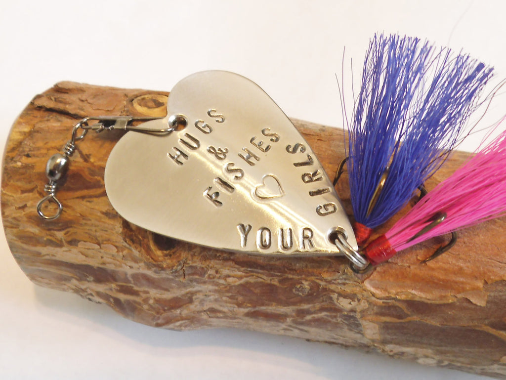 Daddy Gift for Christmas Father Daughter Fishing Lure for Men Birthday Dad of Girls Twins Mommy Gift for Grandparents Kids Him