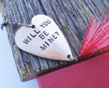 Custom Mens Valentine Gift for Him Handmade Valentine's Day Husband Wife Personalized Valentine Boyfriend Will You Be Mine Fishing Lure Her