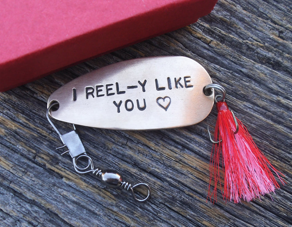 I Reel Y Like You Fishing Lure Keepsake Gift Valentines Day Girlfriend C And T Custom Lures