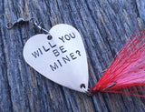 Creative Valentines Day Unique Proposal Fishing Lure Will You Marry Me Engagement Idea Propose to Girlfriend Ask Boyfriend Tie the Knot Wife