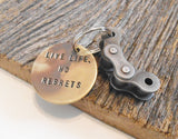 Motocross Gift for Son Graduation Gifts for Kid Live Life No Regrets Inspirational Keychain for Boy that Rides Dirt Bike Supercross Birthday