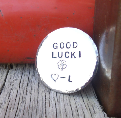 Gifts for Military Husband Wife Deployed Soldier Good Luck Gift High School Graduate Golf Ball Marker Tournament New Driver Lucky Memento