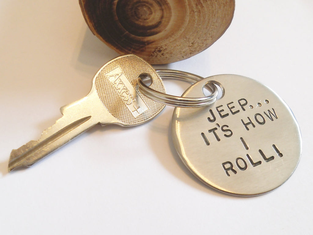 Jeep...It's How I Roll - Custom Keychain for Jeep Wrangler Lover