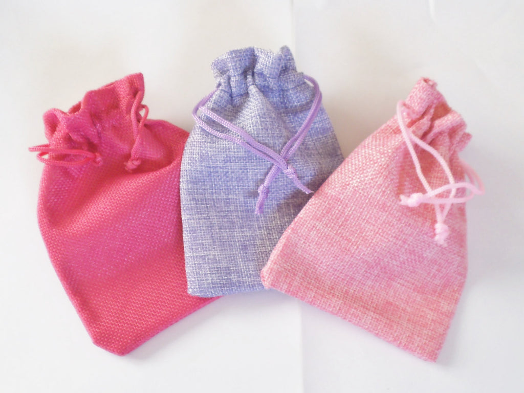 Gift Wrap Option Small Burlap Bag With Fish Heart Or Buck Shaped