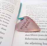 Handstamped Bookmark for Daughter Son Birthday Mom Mothers Day Daughter Birthday Book Marker Best Friend Bookmarker Book Lover Bridal Shower
