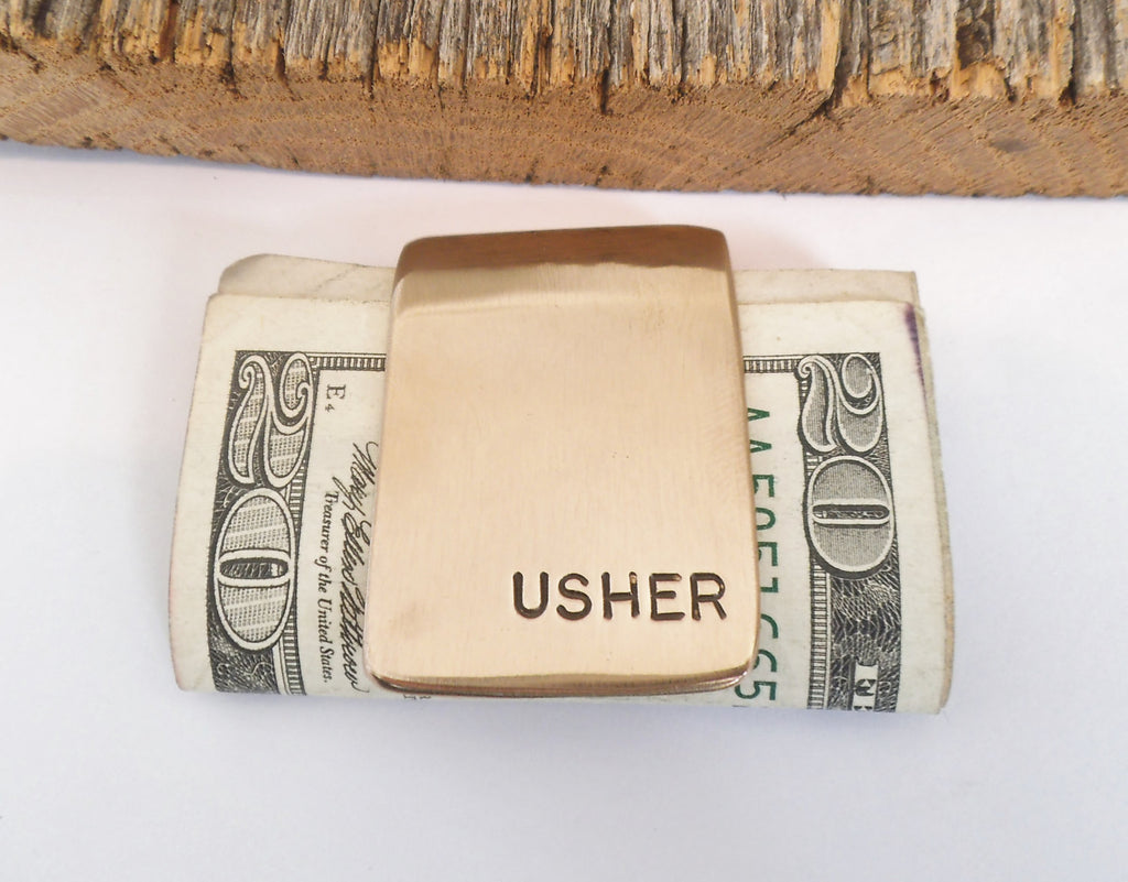 Wedding Favors for Usher Mens Accessories Husband Moneyclip Personalized Money Clip Monogram Money Clips Groomsmen Gift Birthday Boyfriend