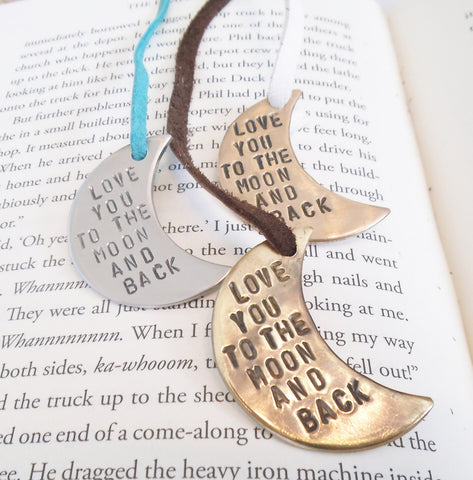 Love You To the Moon and Back - Metal Bookmark