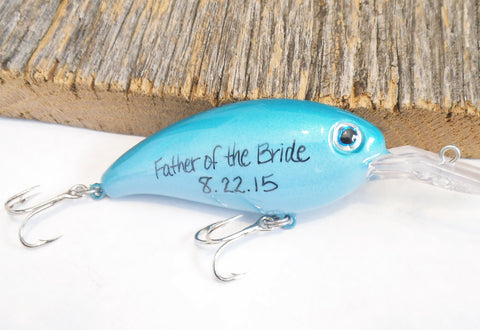 Father of the Bride Gifts for Father of the Groom Fishing Lures Bride's Parents Present Wedding Grandparents Stepfather Step Dad In Laws Men