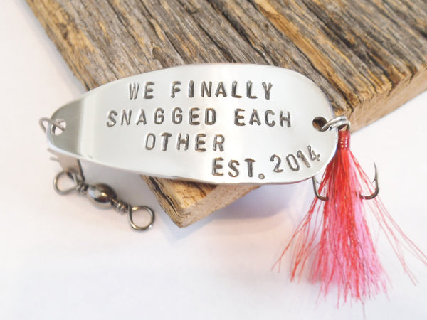 Custom fishing lure anniversary gift for husband fishing for Personalized fishing lures