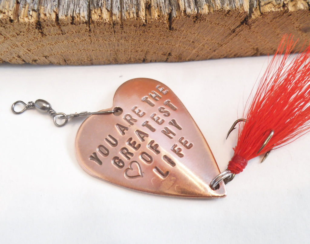 Personalized Gift Husband Father's Day Dad You Are The Greatest Love of My Life Fishing Lure Mes Gift Custom Gift Boyfriend Anniversary Gift