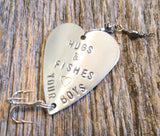Hugs & Fishes - Personalized Fishing Lure