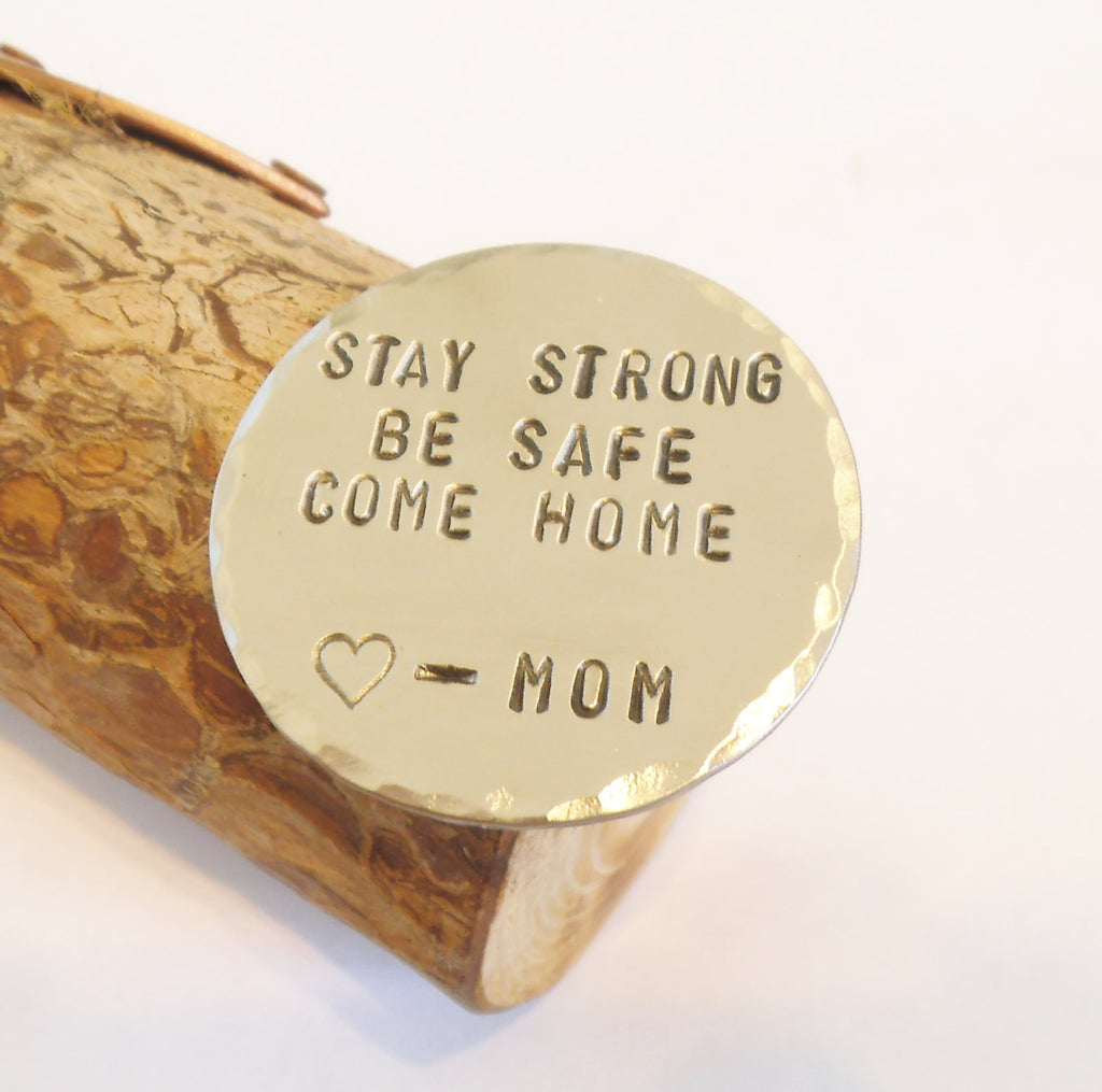 Stay Strong Be Safe Come Home - Personalized Wallet Insert