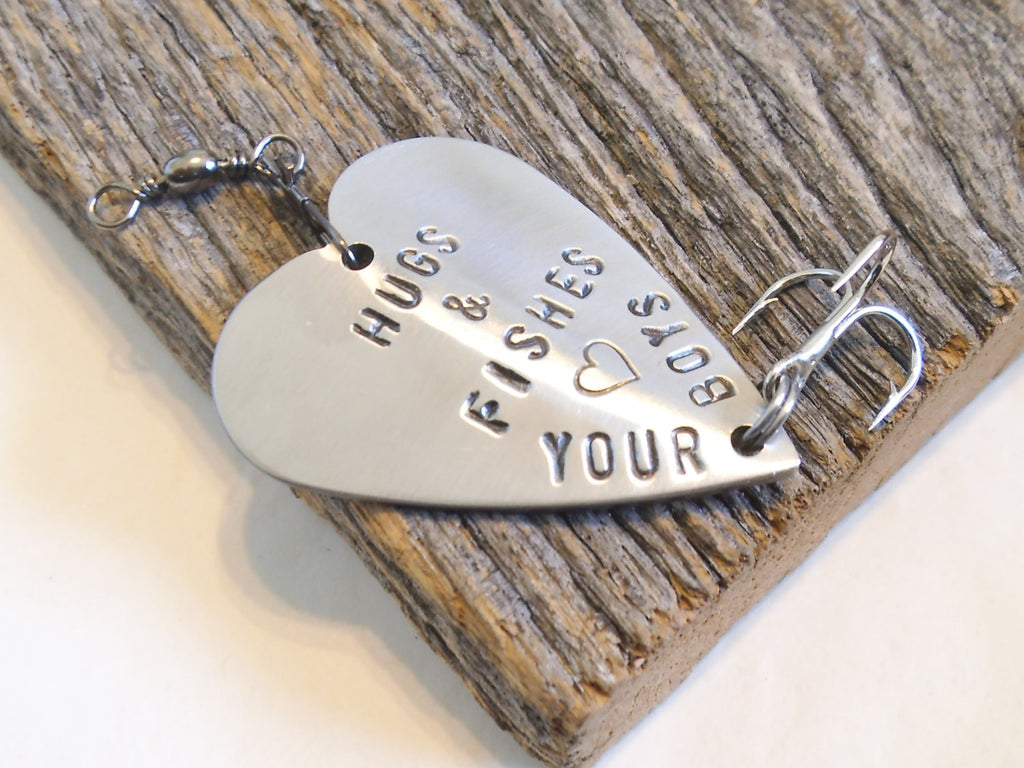 Hugs and Kisses From Your Boys Fishing Lure for Mother's Day Mom or Father's Day Dad Gift for Stepmom Father Son Gift Daddy Birthday Husband