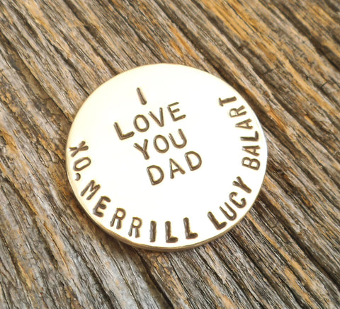 I Love You Dad - Personalized Golf Ball Marker