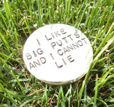 Funny Golf Ball Marker for Groomsman Gift Best Man Bachelor Party I Like Big Putts & I Cannot Lie Men Golf Gift Brother Golfer Birthday Dad