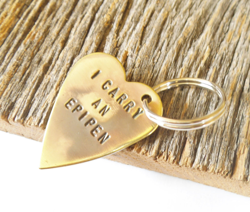 Keychain Child Medical Alert Charm Gift Son Daughter Epipen Jewelry Epi Pen Awareness Allergy Alert I'm Allergic Medical Tag Children Id Son